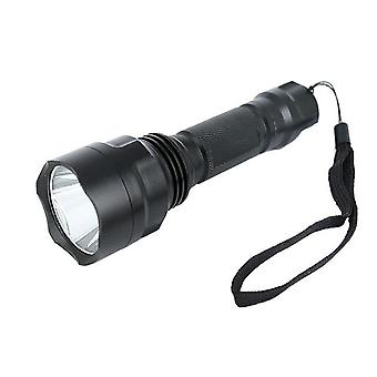 Linterna ampliable resistente al agua con batería recargable - Negro