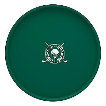 Kasualware 14 Pouces Rond Portion Tray Greem Golf