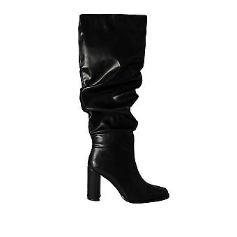 Na-Kd Women's Slouchy Shaft Squared Toe Boots