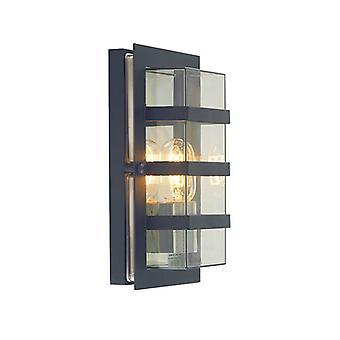 1 Lichte Buitenmuur Licht Zwart IP54, E27