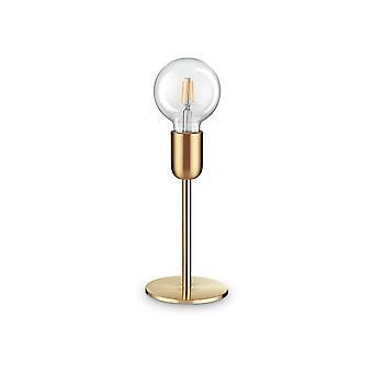 Ideal Lux MICROPHONE - Lámpara de mesa interior 1 Light Brass Satin, E27