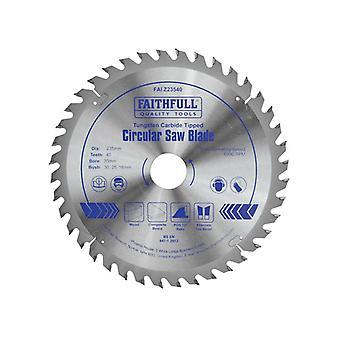 Faithfull Kreissäge TCT 235x16/20/30/35mmx40T Feinkreuz geschnitten FAIZ23540