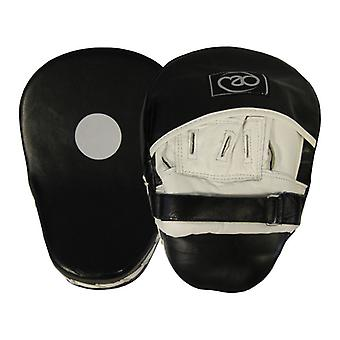 Fitness Mad Leather Pro Curved Hook & Jab Pads Black