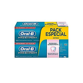 Toothpaste Sensitivity and Whitening Pro-expert Oral-B (2 uds)