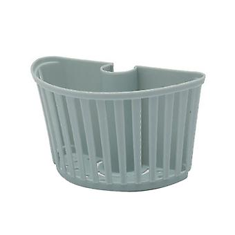 Plastic Storage Basket Bathroom Detachable Drain Rack Blue