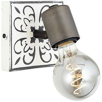 BRILLIANT Vagos Wall Spot Zwart/Wit Binnenlichten, Spotlight,-Muur | 1x A60, E27, 28W, geschikt voor normale lampen (niet