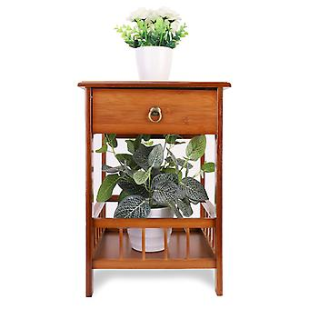 Bamboo Bedside Tables Drawer