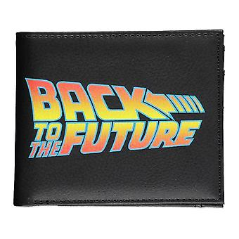 Universal Back To The Future Logo Bi-fold Wallet Male - Black (MW515837BFT)