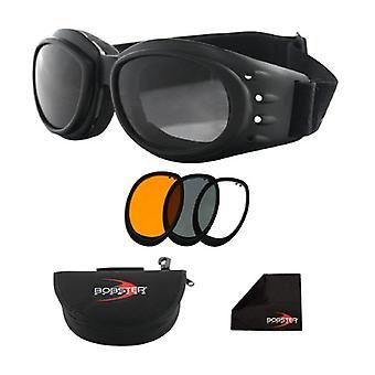 Goggle Balboa BCA2031AC Cruiser 2 cadre noir interchangeables - 3 lentilles