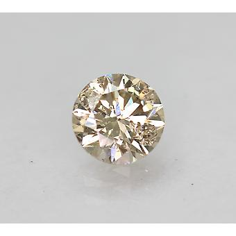 Certified 0.53 Carat Top Light Brown SI1 Round Brilliant Natural Diamond 5.1mm