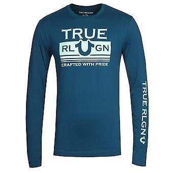 True Religion Long Sleeve Still Mill Navy T-Shirt
