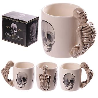 Novelty Skeleton Design Shaped Handle Mug
