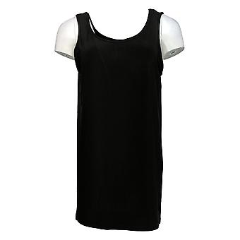Women with Control Women's Top Jersey Tunic W/ Tank Black A353138
