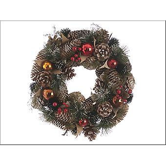 Festive Wreath + Berries Red & Copper 30cm P018927