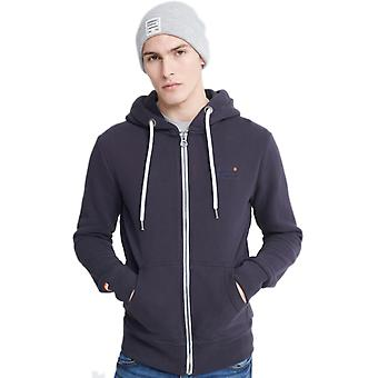 Superdry Orange Label Zip Hoodie Navy 26