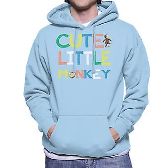 Curieux George Cute Little Monkey Men-apos;s Sweatshirt à capuchon
