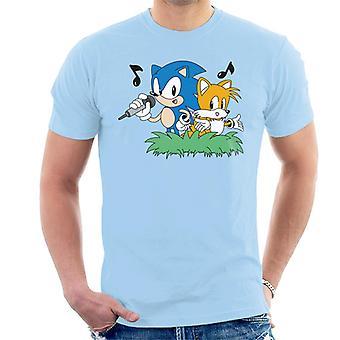Sonic The Hedgehog och svansar Singing Men & apos, s T-shirt