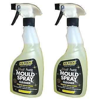 2 x 500ml Kilrock Moule Nettoyage Spray Home Bathroom Kitchen Garage Garden
