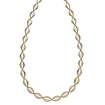 Elements Gold 9ct Yellow Gold Open Oval Link Collier de longueur 43cm