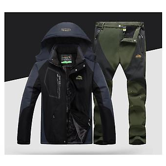 Windproof, impermeabil snowboard jacheta si pantaloni în aer liber Super cald snow coat