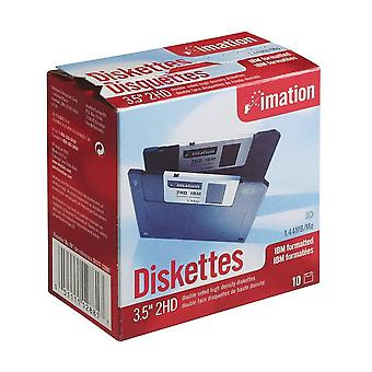 "Imation - 3.5"" ds-hd ibm formatted - black 10 pack"