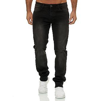 Jaylvis Mens Jeans Regular Fit Pants Stretch Oversize W34-W44 Big Size Trousers