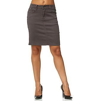 Damer Jeans nederdel blussede Kneelong Midi nederdel Mini nederdel Skinny har Tube