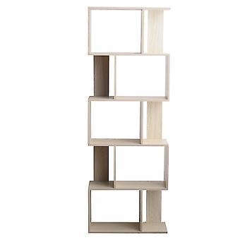 Rebecca Furniture Shelf Bookcase 5 Étagères Bleached Fir Mdf Room 169x60x24
