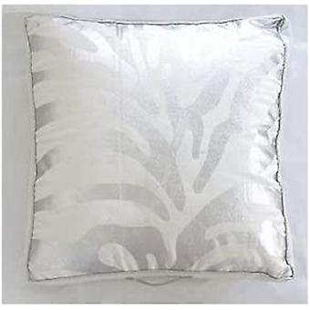 Spura Home Metallic Zebra Silver Printed Bean Bag Pillow 20x20 with Handle