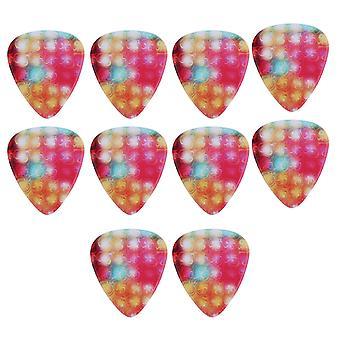 10 pièces colorful light pattern guitar plectrums stylish picks
