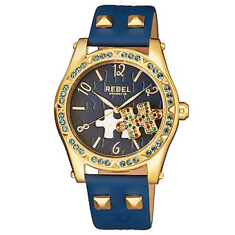 Rebel Women's Gravesend Navy Dial Leather Watch