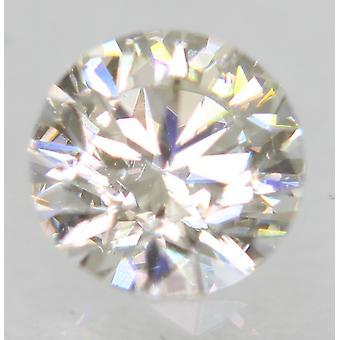 معتمد 0.41 قيراط G VS1 جولة رائعة المحسنة الماس الطبيعي 4.8mm 3EX