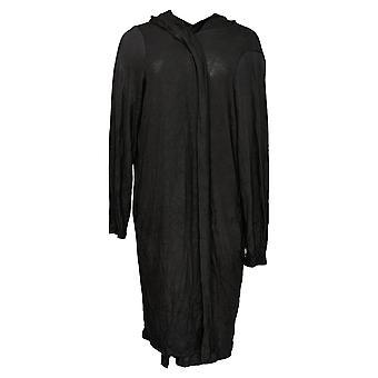 N'importe qui femmes-apos;s Pull Brosé Hacci Wrap Cardigan Noir A345302