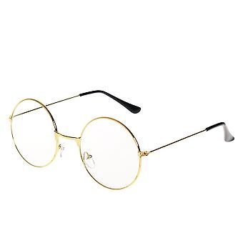 Large Retro Round Reading Glasses Clear Lens Optical Spectacles