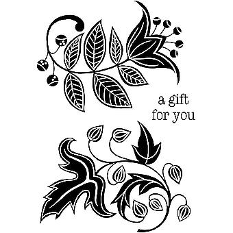 Woodware Clear Stamps - Florais Sólidos