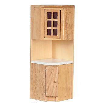 Dolls House Light Oak varustettu keittiönurkkayksikkö Miniatyyri 1:12 Vaa'an huonekalut