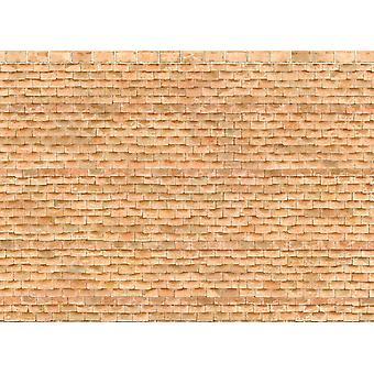 Dolls House georgisk tagsten papir miniature print udvendige tapet 1:12