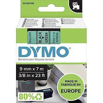 Etikettering tape DYMO D1 40919 Tape kleur: groen lettertype kleur: zwart 9 mm 7 m