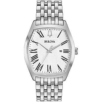 ブローバ 96M145 女性&アポ;s アンバサダー ホワイトダイヤル腕時計
