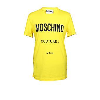 Moschino A071920401027 Men's Yellow Cotton T-shirt