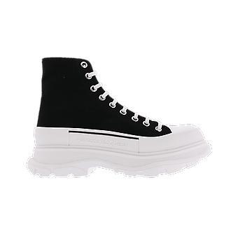 Alexander McQueen H.Boot.Fabr.S.Rubbe. Ol.Sc.Can Negru 604254W4L321070 pantof