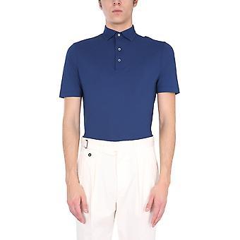 Lardini Ellpmc14830 Men's Blue Cotton Polo Shirt