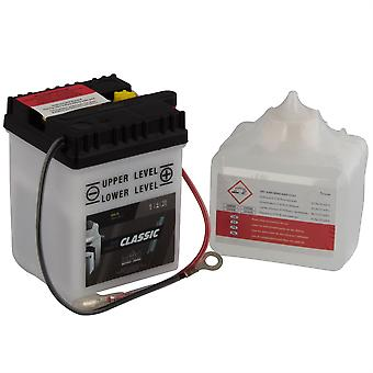 intAct 6N4-2A-2 Classic Bike-Power Battery With Acid Pack