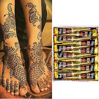 Indické Henna Tattoo Paste Kužely pro dočasné tetování