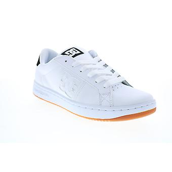 DC Striker  Mens White Leather Skate Inspired Sneakers Shoes