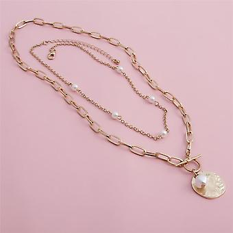 Bead Lariat R Long  Necklace