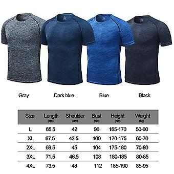 Men's Running T-shirts, Quick Dry Compression Sport T-shirts, Fitness Gym