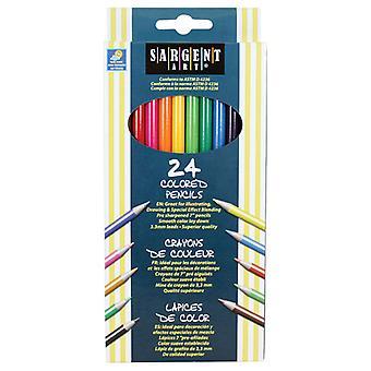 Sargent Art Colored Pencils, 24 Colors