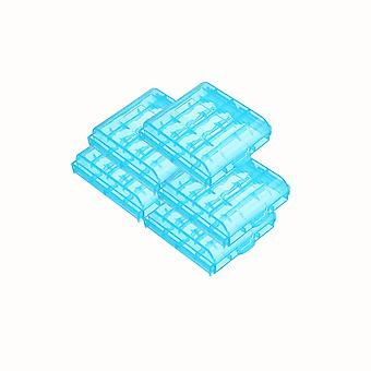 5 Powerlion PL-B5742 Clear AA AAA Battery Storage Box Case-Blauw