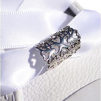 Sølv hjerte Tube sko charme